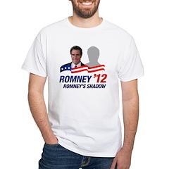 Anti-Romney Shadow White T-Shirt