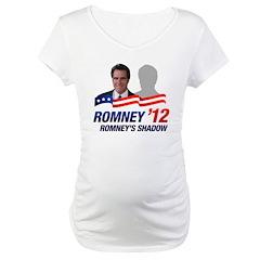 Anti-Romney Shadow Maternity T-Shirt