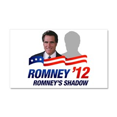 Anti-Romney Shadow Car Magnet 20 x 12