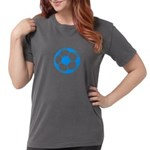 Brown Soccer Ball Womens Comfort Colors Shirt