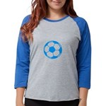 Brown Soccer Ball Womens Baseball Tee