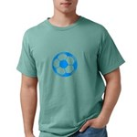 Brown Soccer Ball Mens Comfort Colors Shirt