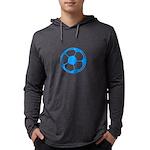 Brown Soccer Ball Mens Hooded Shirt