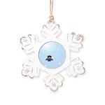 Catch A Snowflake Rustic Snowflake Ornament