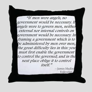Federalist 51 Throw Pillow