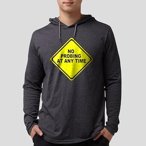 No Probing Sign Mens Hooded Shirt