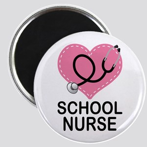 School Nurse Heart Magnet