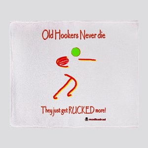 Old Hookers Rucked More 6000 Throw Blanket