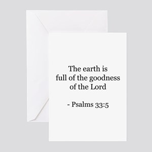 Psalms 33:5 Greeting Cards (Pk of 10)