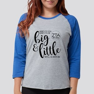 Zeta Tau Alpha Big Little Pers Womens Baseball Tee