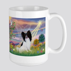 Cloud Angel & Papillon Large Mug