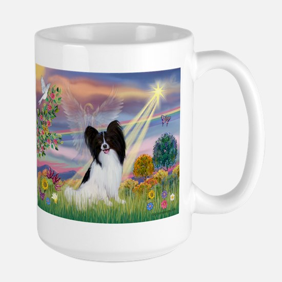Cloud Angel & Papillon Large Mug