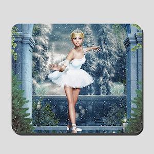 Snow Princess Nutcracker Ballerina Mousepad