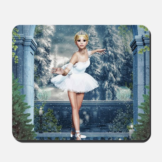 Snow Princess Nutcracker Ballerina Mousepad