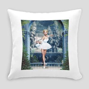 Snow Princess Nutcracker Ballerina Everyday Pillow