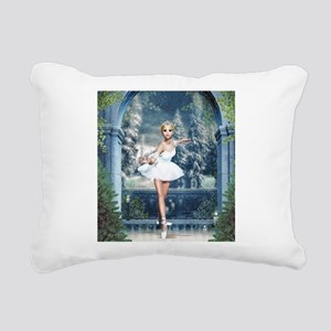 Snow Princess Nutcracker Rectangular Canvas Pillow