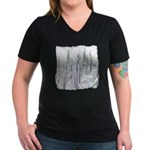 Many Saguaros Recreate Women's V-Neck Dark T-Shirt