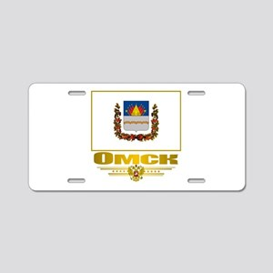Omsk Flag Aluminum License Plate