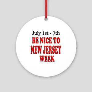 NJ Week Ornament (Round)
