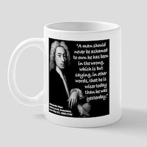 Pope Wiser 2 Quote Mug