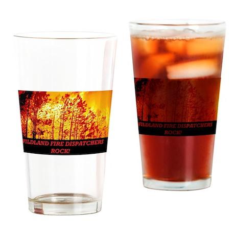 WILDLAND, FIRE DISPATCHERS ROCK Drinking Glass