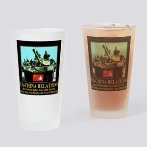 US-China Relations Drinking Glass
