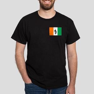 Ivory Coast Football Flag Dark T-Shirt