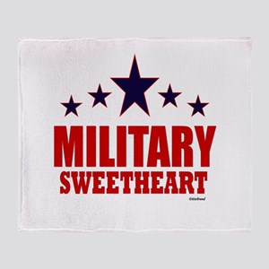 Military Sweetheart Throw Blanket