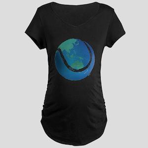 world tennis ball globe Maternity Dark T-Shirt