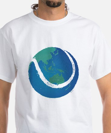 world tennis ball globe White T-Shirt