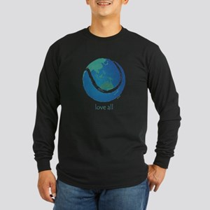love all world tennis Long Sleeve Dark T-Shirt