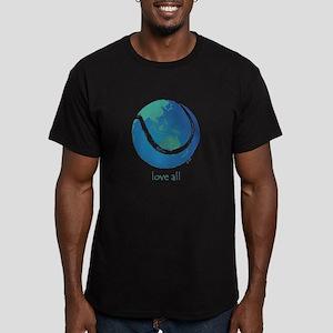 love all world tennis Men's Fitted T-Shirt (dark)
