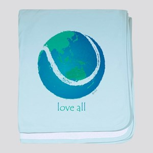 love all world tennis baby blanket
