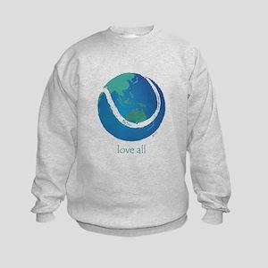 love all world tennis Kids Sweatshirt