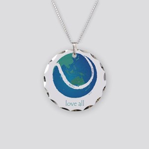 love all world tennis Necklace Circle Charm