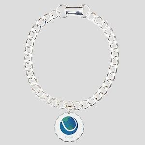 love all world tennis Charm Bracelet, One Charm