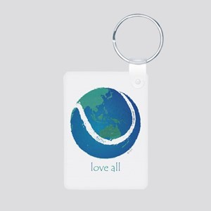 love all world tennis Aluminum Photo Keychain