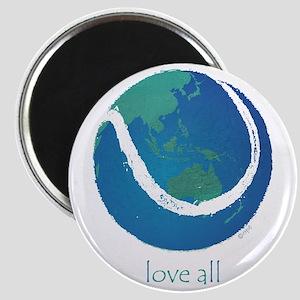 love all world tennis Magnet