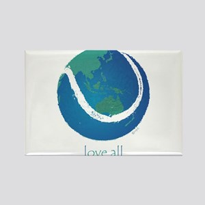 love all world tennis Rectangle Magnet