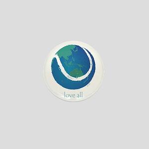 love all world tennis Mini Button