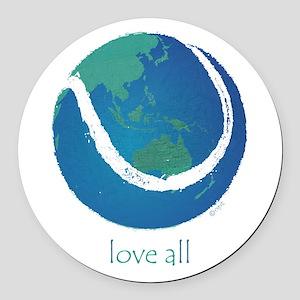 love all world tennis Round Car Magnet