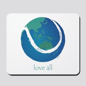 love all world tennis Mousepad