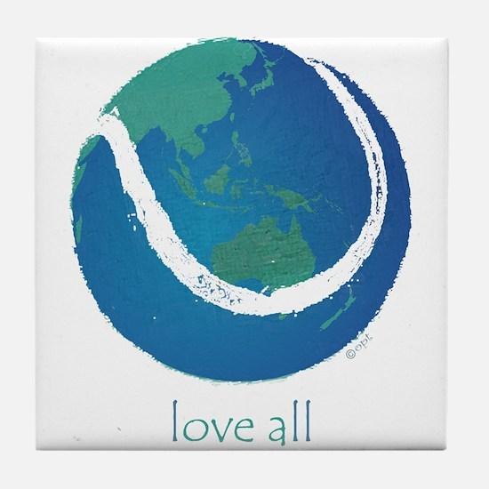 love all world tennis Tile Coaster