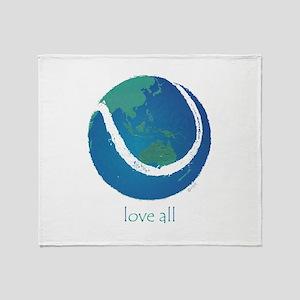 love all world tennis Throw Blanket