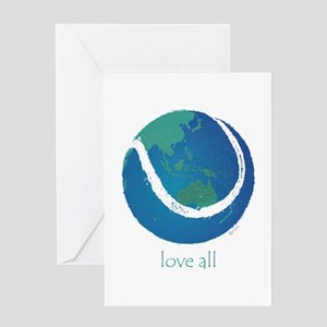 love all world tennis Greeting Card