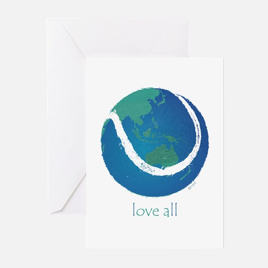 love all world tennis Greeting Cards (Pk of 20)