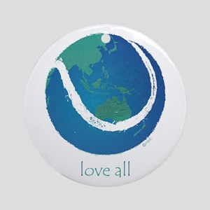 love all world tennis Ornament (Round)