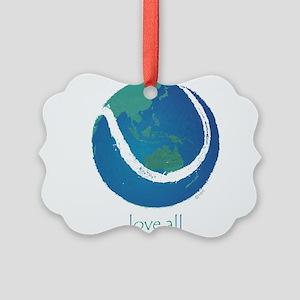 love all world tennis Picture Ornament