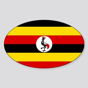 Flag of Uganda Sticker (Oval)