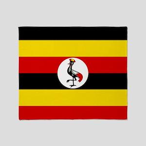 Flag of Uganda Throw Blanket